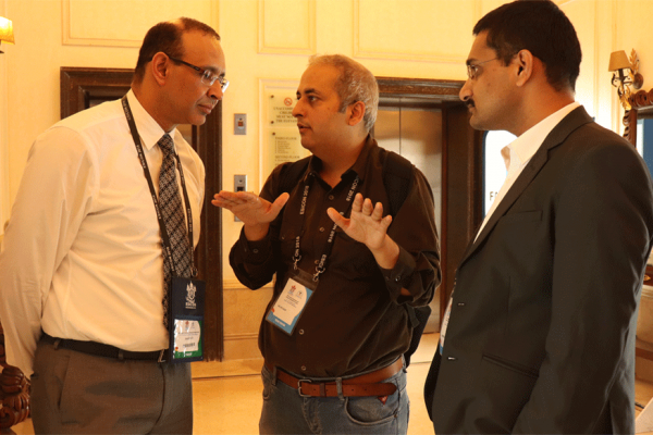 Dr Sanjay Kalra, Sachin Gaur and Dr saurabh Gupta at ESICON 2018