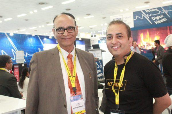 Dr VK Singh & Sachin Gaur at FTR4H in Medical Fair India