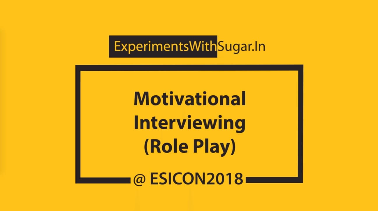 Motivational Interviewing activity at ESICON 2018