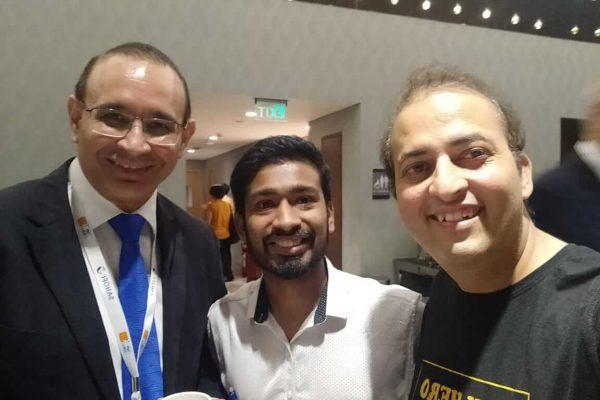 (L-R) Dr Sanjay Kalra, Chetan Bansiwal and Sachin Gaur from team ExperimentsWithSugar
