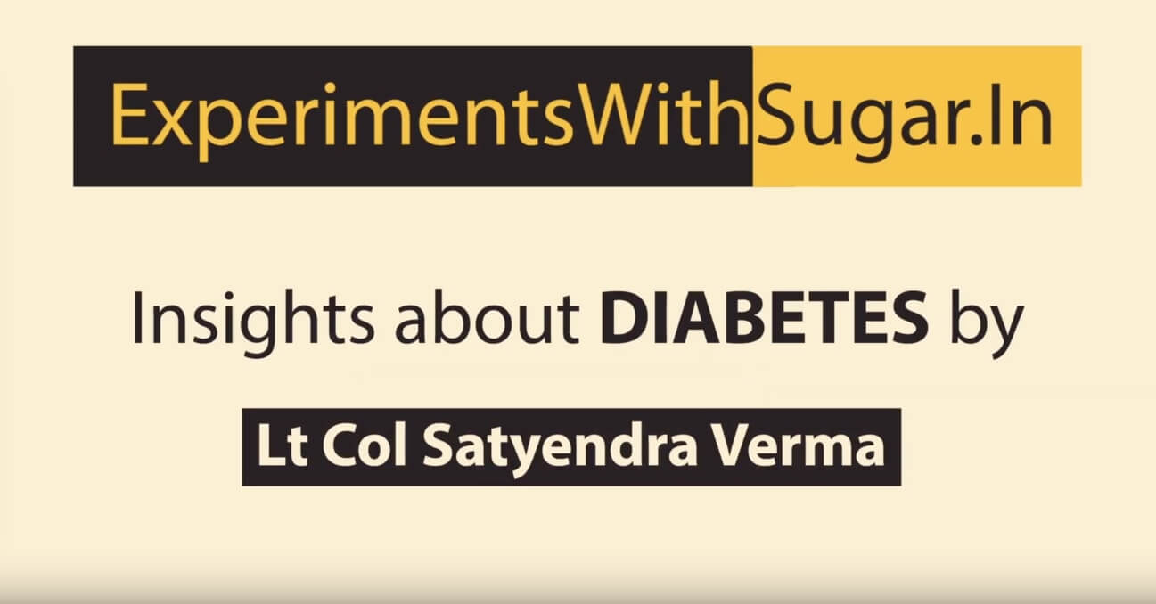Lt Col Satyendra Verma about fitness regimes for diabetes