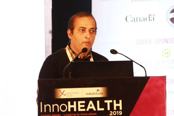 Sachin Gaur moderating the diabetes session at InnoHEALTH 2019